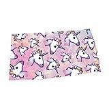 Giddah Cute Mode Kawaii Bunte Streifen Einhorn Heißer Verkauf Wasser Absorbierendes Mikrofaser Bad Strand Handtuch Schnelle Trocknung 70*140 cm (pink)