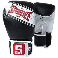 Sandee Deporte Guantes Boxeo Tailandés Muay Negro - Negro, 14oz