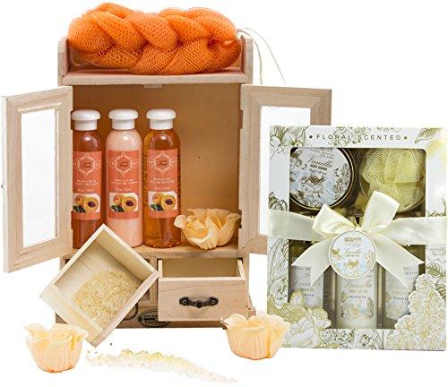 BRUBAKER Cosmetics Bade- und Pflegeset Pfirsich & Vanilla Rose Minze 15-teilig