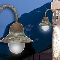 MIA Schiffs Decken Leuchte AUSSEN Ø160mm// Antik// Maritim// Golden// Messing// Lampe