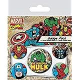 AMBROSIANA Badgepack 5 Pezzi Marvel Retro Hulk