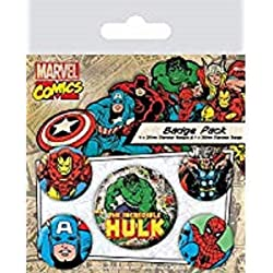 Pyramid International Marvel Retro - Badge Pack Hulk