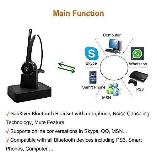 Willful Cuffie Bluetooth Wireless con Dock di Ricarica qualità Auricolare  Vivavoce Stereo con Microfono Senza Fili X Auto Ufficio per iPhone Samsung  Sony ... 27f171117dab