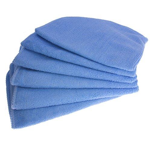 6 erstklassige Mikrofasertücher / Poliertücher / Staubputztücher / Autopoliertücher / Putztücher / blau