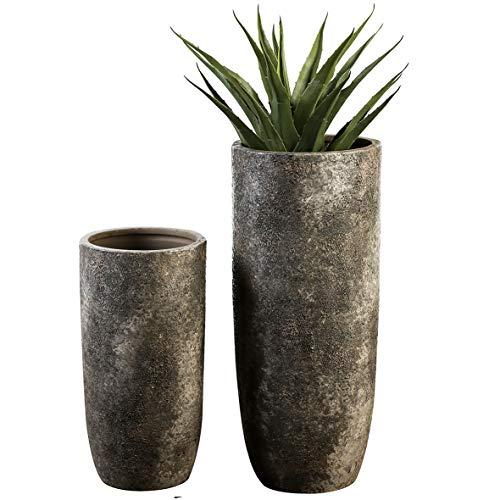Casablanca Bodenvase Guam grau/braun antik H.49 cm aus Keramik, mit Rauer Oberflächenstruktur BxHxT 0 x 49 x 0
