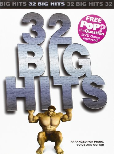 32 Big Hits Arranged For Piano, Voice And Guitar (Book, plus POP Game Question DVD): Songbook, DVD (Video) für Klavier, Gesang, Gitarre (Pvg) (Video Game Sales)
