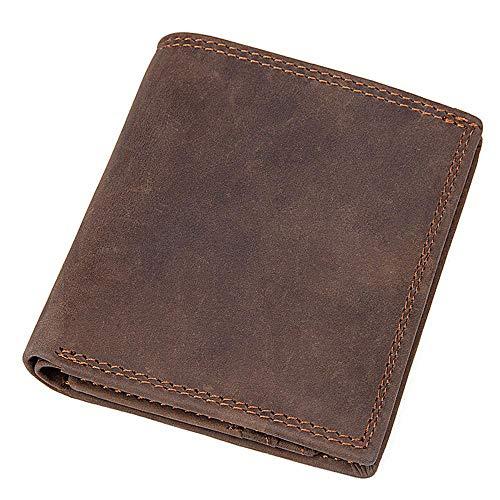 Circlefly Herren Geldbörse Crazy Horse Leder Geldbörse Vintage Kuh Tasche Karte