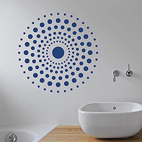 Circle Pattern Adesivo da parete by stickerstudio, Ivory, Large 58cm x (Circles Ivory)