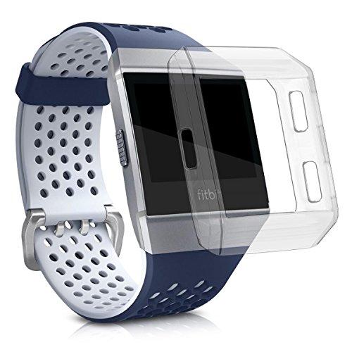 kwmobile Funda protectora para pulsera deportiva Fitbit Ionic - cubierta transparente para brazalete deportivo sin Tracker