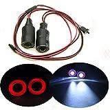 17mm 2 Leds Angel Eyes LED Licht Scheinwerfer / Rücklicht für 1:10 RC Crawler Car (Rot + Weiß)