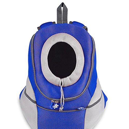 UU Transportboxen für Katzen Haustier-Rucksack-im Freien Doppelte Schulter-Beutel-Hundeschlingen-Beutel-tragbare Kasten-Hundebeutel-Katzen-Satz (Farbe : Blau, größe : (Astronaut Kostüm Rucksack)