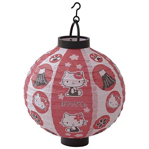 Sanrio Hello Kitty Japanische Chochin LED Papier Laterne mit Batterie