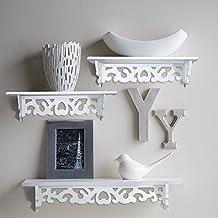 homeneat juego de estantes de pared flotante ideal para libros o colecciones