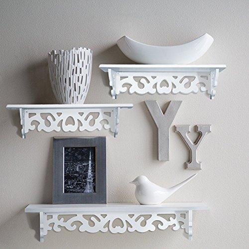 Home-neat set di 3 mensole a parete galleggianti, grandi per libri o collezioni, aggiungere il design e il gusto alla tua camera