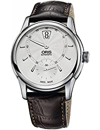 Oris Artelier Jumping Hour Automatic Stainless Steel Mens Strap Watch 917-7702-4051-LS
