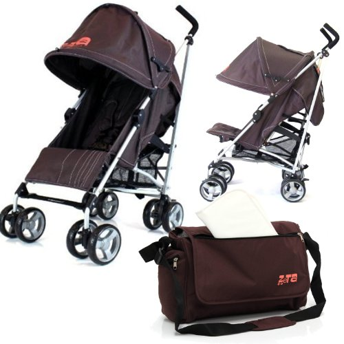 Baby Stroller Zeta Vooom Buggy Pushchair - Hot Chocolate (Brown) Complete With Changing Bag + Raincover