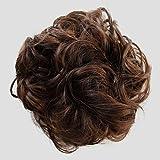 PRETTYSHOP parrucchino, updos, panino disordinata, voluminoso, ondulato,marrone mix # 4/30A G26A
