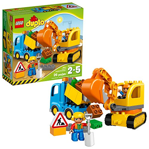 LEGO DUPLO Town 10812 Truck & Tracked Excavator Building Kit (26 Piece) by LEGO - Armee Lego-kits