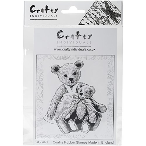 crafty-individuals-unmounted-rubber-stamp-475-inch-x-7-inch-pkg-two-teds