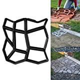 D.I.Y. pavimentazione di pietra Cemento Forma casseforme forma stampo plastica forma di stencil per calcestruzzo, pietra naturale cerotto, Ciottoli, Pavimentazione in pietra, Ampie piastre e Pavimentazione per giardino 42,5x 42,5x 4cm