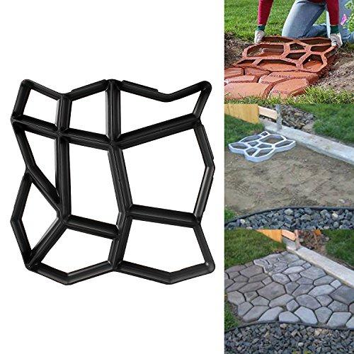 1 Stück D.I.Y. Pflasterstein Gehweg Form Pflasterform Schalungsform Betonformen Gehwegplatten Beton Kunststoff für Garten Natursteinpflaster 42,5 x 42,5 x 4cm