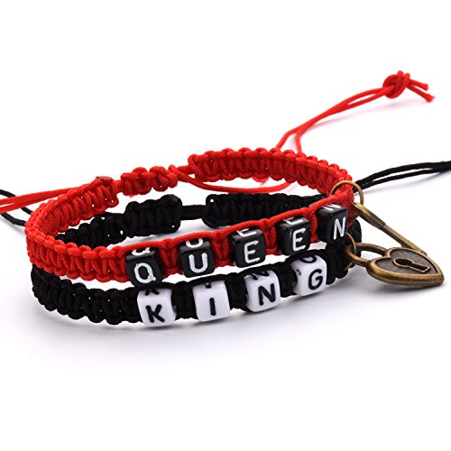 tonver-fashion-handmade-braid-key-and-lock-couple-bracelets-king-and-queen-resizable