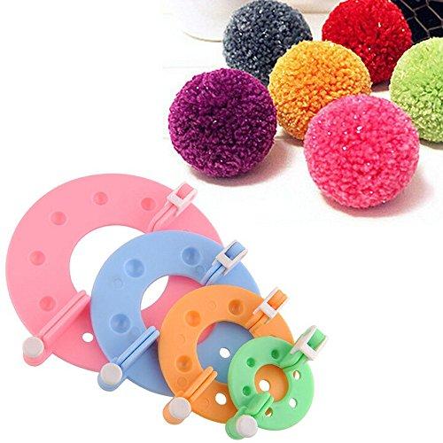 Pompom Maker Pompom Maker Flusenbälle 4 Größen DIY Werkzeug Weaver Nadelstricken Basteln (Maker Kit Stirnband)
