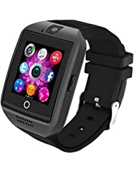 Bluetooth Smart Watch [Neue Version 1.54'' Bogensieb], LERMX Armbanduhr Smartwatch Android Uhr mit Kamera/Schrittzähler/Schlaftracker/Romte Capture Karte Gebogener Bildschirm für Android Smartphones
