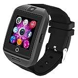 Bluetooth Smartwatch [Schermo Curvo Cinturino leggero], LERMX Orologio da polso Smart Touchscreen. Smart Watch Supporta SIM/TF Card, pedometro, fotocamera remota, modalità sonno per Android Smartphones