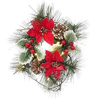 Centro de Mesa de Navidad clásico Rojo de led para decoración Christmas – LOLAhome