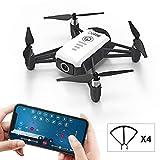 FPV RC Drohne, Mini Faltbare Drohne mit Kamera Live Video 2K HD APP Steuerung RC Quadcopter mit Auto Hovering, Headless-Modus, Höhenlage, One Key Start