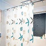Duschvorhang Anti-Schimmel,Wasserabweisender Stoff PEVA wasserdicht ,waschbar Antibakteriell Badvorhang Wasserabweisender Stoff-Duschvorhang Duschvorhang mit 12 Duschvorhangringe für Badezimmer shower curtains Waterproof 180 x 200 cm