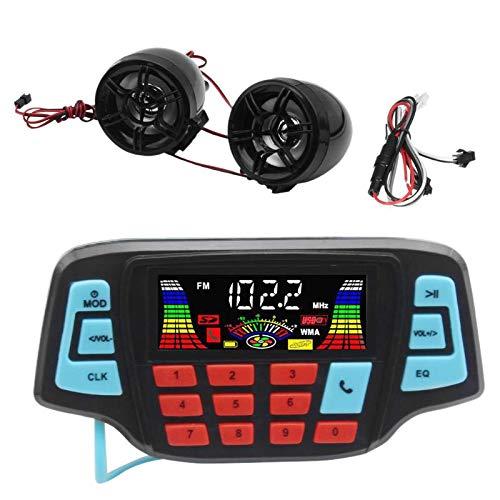 SODIAL Motorrad Mp3 Musik Spieler Audio Freisprecheinrichtung Bluetooth Stereo Lautsprecher Fm Radio Wasserdichtes Audiosystem