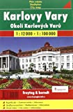 Karlovy Vary 1 : 12 000 / Okoli Karlovych Varu 1 : 100 000: Shocart Stadtplan -