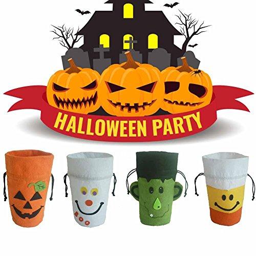 -or-treat Candy Staubbeutel Halloween Supplies Kürbis Geist Hexe Geschenk Tüte Kids Kinder Candy Staubbeutel 21x 13x 7cm Kordelzug Tasche ()