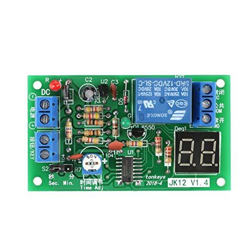 1Stück DC 12V LED-Anzeige Countdown Timer verstellbar Schaltmodul Relais On/Off-Schalter -