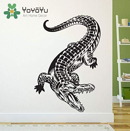 Krokodil Alligator Wandtattoo Art Decor Aufkleber Vinyl Alligator Wandtattoo Art Vinyl Home Wohnzimmer Jungen Zimmer Aufkleber 55X80cm - Mulch Gold