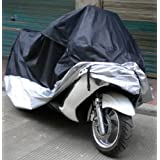 Samgu HOUSSE BACHE MOTO Couvre-Moto velo VTT scooter Taille XL 245cm argente noir protection