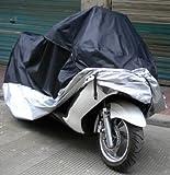 Samgu - Funda Protector Cubierta para Moto/Motocicleta Negro y plata Talla XL 245x105x125cm