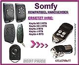 Somfy Keygo 4RTS compatible handsender, Repuestos emisor, 433.42MHz Rolling Code. Top Calidad ersatzgerät.