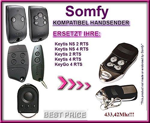 SOMFY Keytis NS 2 RTS, Somfy Keytis 4 NS RTS Kompatibel Handsender / Ersatz