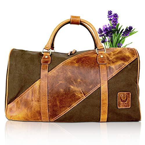 Sporttasche und Reisetasche Echtleder I Vintage Weekender für Kurzreisen I Handtasche für Handgepäck + Reisegepäck I TB36 Corno d'Oro
