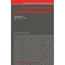 Kommentar zum Gleichstellungsgesetz (Schriftenreihe Schweizerischer Gewerkschaftsbund SGB/Documents de l'Union syndicale suisse USS)