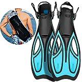 Khroom Flossen mit Verstellbarer Ferse für Erwachsene und Flossentasche zum...
