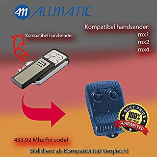 X2 Model ALLMATIC MX1 ALLMATIC MX2, ALLMATIC MX4 Remote Control Compatible Replacement, Klone