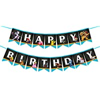 Super Smash Brothers Happy Birthday Banner, Game Birthday Banner for Gamer's Super Mario Theme Party Supplies.