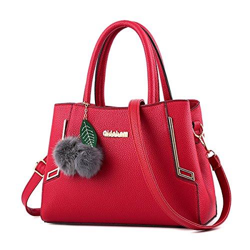 Sunas Automne et hiver la mode sac d'âge moyen des femmes sac à main occasionnel tempérament rétro paquet diagonale épaule minimaliste Rouge