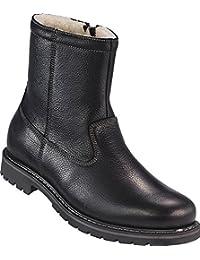 98b9c3ec9aea Ross   Cole Herren Stiefel mit warmem Futter in Lammfell-Optik in Schwarz,  Winterstiefel, Leder-Boots, Stiefeletten mit…
