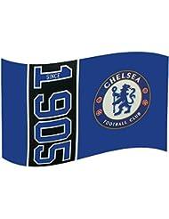 Chelsea FC club football depuis 1905 style drapeau bleu partisan match bannière
