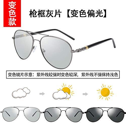 Influx polarisierte Sonnenbrille männliche Brille weibliche Fahrer Fahrer Sonnenbrille Männer Augen Flut Black Box schwarz grau (verstärktes polarisiertes Licht), um einen vollständigen Satz von Spie